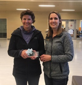 Becky Galbraith with ASCA Director Jacquie Surgenor (right)