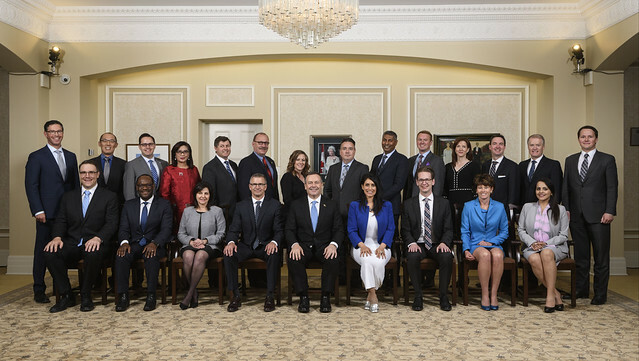 Premier Jason Kenney and Cabinet are sworn in at Government House, in Edmonton on Tuesday, April 30, 2019.
